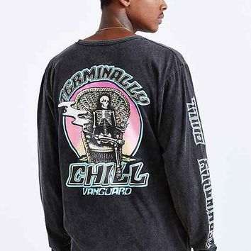 Vanguard Terminally Chill Long-Sleeve Tee- Washed Black