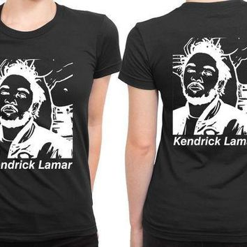 ESBP7V Kendrick Lamar Fan Art 2 Sided Womens T Shirt