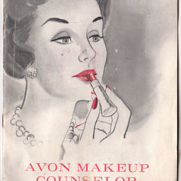 Vintage 1960s Avon Makeup Counselor Guide Book