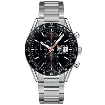Men's TAG Heuer CARRERA Automatic Chronograph Black Dial Watch