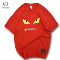Fendi men and women personalized printed cotton sports compassionate Red