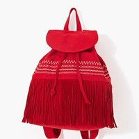 Mojave Fringe Backpack - Red in What's New at Nasty Gal