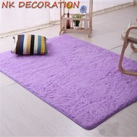 NK 40*60cm Purple Plush Shaggy Soft Carpet Area Rugs Not Non-slip Floor Mats For Living Room Bedroom Home Decoration Supplies