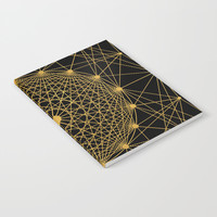 Geometric Circle Black and Gold Notebook by Fimbis