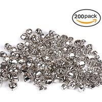 eborder 1/2 inch Jingle Bells Craft Bells Set for Kids, Craft and Christmas Decoration, 120 Pieces (Silver)