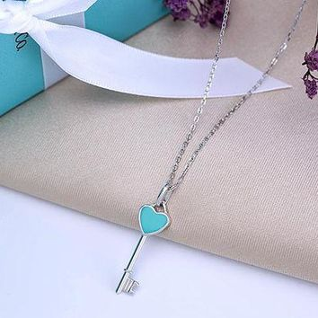 Tiffany New Heart Heart Necklace 925 sterling silver high quality DCCK