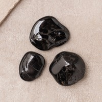 Black Tourmaline Pocket Stones - Set of 3