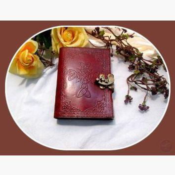 Celtic Cross Latched Leather Journal