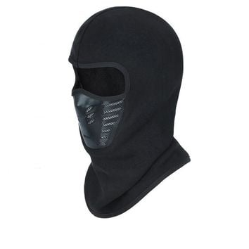 Trendy Winter Jacket High Quality Winter Bicycle Windproof Motorcycle Face Mask Hat Neck Helmet Cap Sports Thermal Fleece Balaclava Hat For Men Women AT_92_12