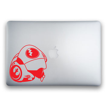 X-Wing Pilot Helmet from Star Wars: The Force Awakens Sticker for MacBooks and Apple Devices