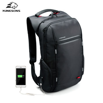 Laptop Backpack External Charge Computer Backpacks Male Waterproof Bags