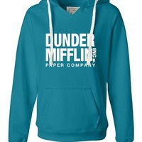 Womens Dunder Mifflin Paper Company Deluxe Soft Hoodie