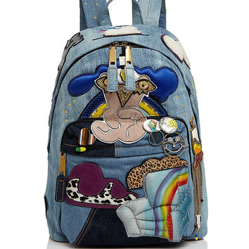MARC JACOBS Julie Verhoeven Patched Denim Backpack