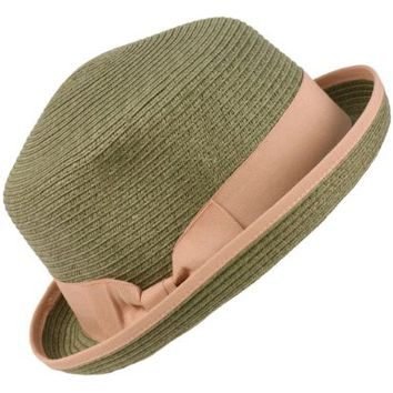 3 in 1 Flip Up Flip Down Beach Summer Bucket Cloche Fedora Packable Hat Gray