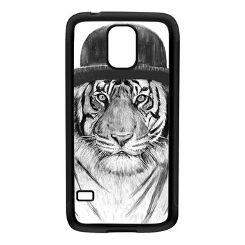 Welcome To The Jungle Black Silicon Rubber Case for Galaxy S5 by Balazs Solti