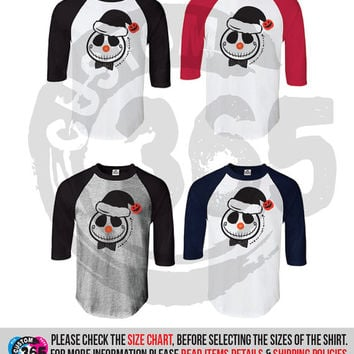Jack the Snowman (Straight Fit Raglan)