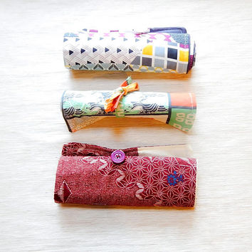 Pencil Storage Roll/ Artist Pencil Roll/ Pencil Case/ Make Up Brush Holder/ Crochet Hook Roll/ Gift For Women/ Christmas Gift/ Birthday Gift