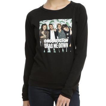 One Direction DRAG ME DOWN Girls Long Sleeve Top T-Shirt NWT Licensed & Official