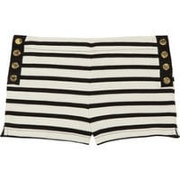 Juicy Couture | Striped cotton-jersey shorts | NET-A-PORTER.COM