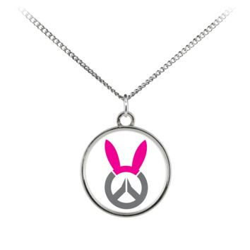 Overwatch D.Va Bunny Logo Standard Coin Necklace