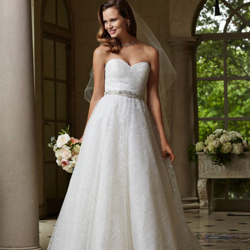 Wtoo by Watters 14262 Strapless Tulle Bridal Gown