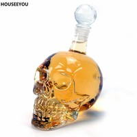 Creative Crystal Skull Vodka Bottles Gothic Wine Vodka Decanter Bar Tools Barware Home Supplies 125ML 350ML 550ML 1000ML 4Sizes