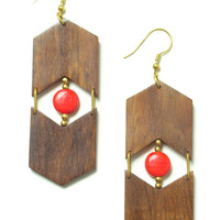 Eyes & Arrows Earrings: Red