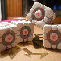 Aperture Weighted Companion Cube inspired by Portal by geekoutlet