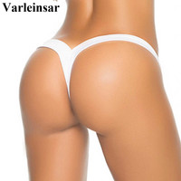 2017 V shape sexy revealing thong Brazilian bikini bottom women swimwear trunk tanga micro mini briefs Panties Underwear V371