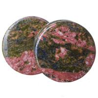 Unakite Stone Plugs (3mm-25mm)
