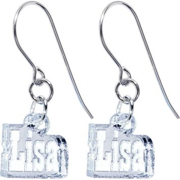Handcrafted Custom No 1  Lucite Personalized Earrings
