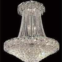 Udell - Hanging Fixture (18 Light Modern Hanging Crystal Chandelier) - 8341D30