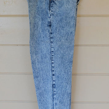 Vintage 1980s Acid Wash Jeans High Waisted Pleated Jordache Jeans