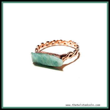 Electroformed Copper and Amazonite Ring - Various Shapes and Sizes