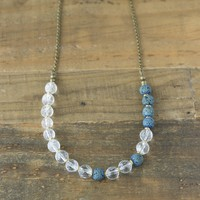 Quartz Crystal Essential Oil Diffuser Necklace