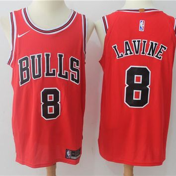 Best Deal Online NBA Authentic Basketball Player Jerseys Chicago Bulls  # 8 Zach LaVine Red