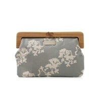 Harabu House - Apple and Bee Wooden Handle Clutch