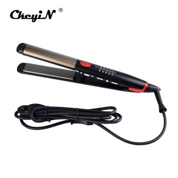 CkeyiN Hair Straightening Corrugated Iron LED Professional Hair Curler Curling Straightener Flat Irons Magic Curling Wand Waver