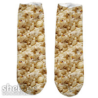 Popcorn Short Foot Gloves