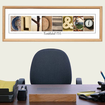 Personalized Company Name Sign - Digital Alphabet Letter Art Photography - The Perfect Corporate Gift