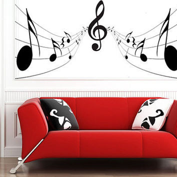 Music Notes Wall Sticker bedroom kitchen art vinyl decal Transfer Graphic Mural