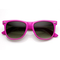 Trendy Large Retro Colorful Horned Rim Frame Sunglasses 8726
