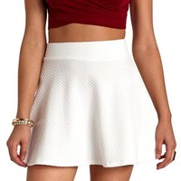 TEXTURED CHEVRON SKATER SKIRT