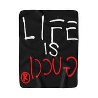 LIFE IS GUCCIⓇ Fleece Blanket