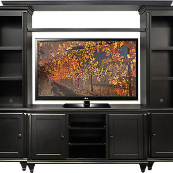 Bluffs Black 4 Pc Wall Unit