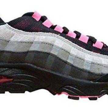 LMONF Nike Air Max 95 LE (GS) Running Trainers 310830 Sneakers Shoes (BIG KID, Black (Black (Black/Pink-Wlf Lsr Gry Gry-Cl 062)