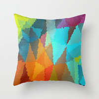 Stained Glass  Throw Pillow by Latidra Washington