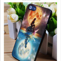 Ariel and the moon iPhone for 4 5 5c 6 Plus Case, Samsung Galaxy for S3 S4 S5 Note 3 4 Case, iPod for 4 5 Case, HtC One for M7 M8 and Nexus Case