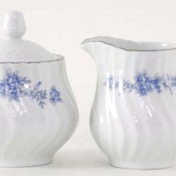 Royal Rose Porcelain Discount Cream and Sugar Set