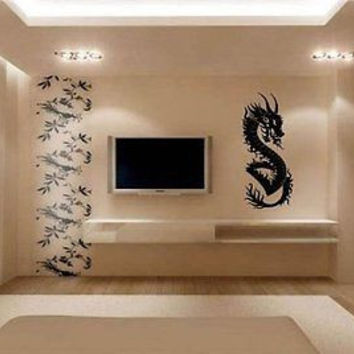 Dragon Asian Wall Decor Wall Art Sticker Decal d-14